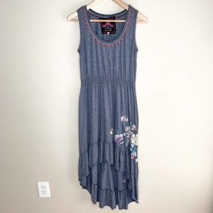 Johnny Was Dress High Low Sleeveless Floral Boho S